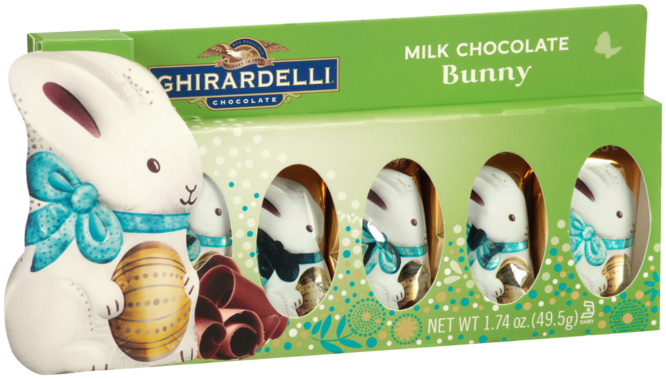 Ghirardelli® Chocolate Milk Chocolate Bunny 1.74 oz. Box