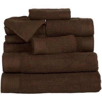 Andover Mills Pernelia 10 Piece Egyptian Cotton Towel Set Color: Chocolate