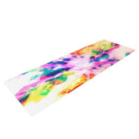 Kess Inhouse Technicolor Clouds by Caleb Troy Yoga Mat