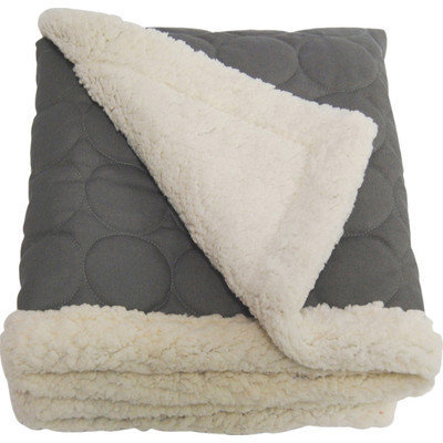 Ez Living Home Circle Water Repellent Quilted Throw Color: Gray, Size: X-Large (1
