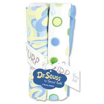 Trend Lab Dr. Seuss 4ct Burp Cloth Set, Oh, the Places! Blue