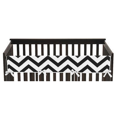 Sweet Jojo Designs Chevron Long Crib Rail Guard Cover Color: Black