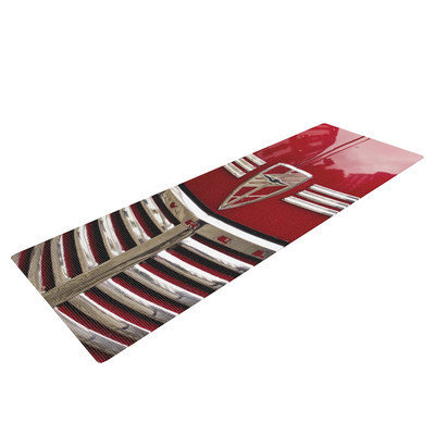 Kess Inhouse Red Chevy by Ingrid Beddoes Yoga Mat