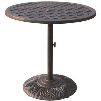 Darlee Series 30 30-in x 30-in Cast Aluminum Round Patio Dining Table DL30-BJ