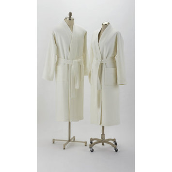 Coyuchi Pebbled Terry Robe Color: White, Size: Small / Medium
