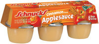 Schnucks Cinnamon Flavored 4 Oz Applesauce 6 Pk Sleeve