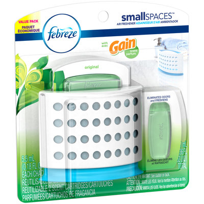 Small Spaces Febreze SmallSpaces with Gain Original Starter Kit and Refills Value Pack (11 mL)