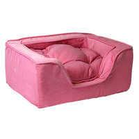 O'donnell Industries Odonnell Industries 21495 Luxury X-Large Square Dog Bed - Pink-Pink