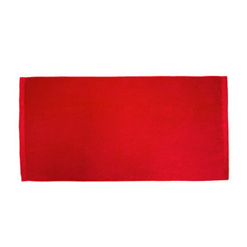 Terry Town Bath Towel Color: Red