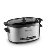 KitchenAid 6-Quart Slow Cooker with Glass Lid, KSC6223 - Stainless Steel