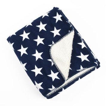 Saro Star Design Sherpa Baby Blanket