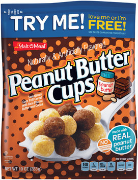 Malt-O-Meal® Peanut Butter Cups Sweetened Corn Puff Cereal 10 oz. Bag