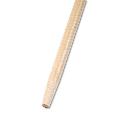 PROLINE BRUSH Tapered End Broom Handle, Lacquered Hardwood, 1-1/8 Dia. x 60 Long