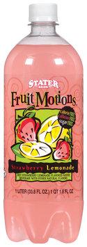 Stater Bros. Diet Fruit Motions Strawberry Lemonade Water Beverage 1 L Plastic Bottle