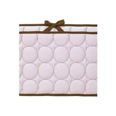 Bacati Quilted Bumper Pad Pink & Chocolate For Baby
