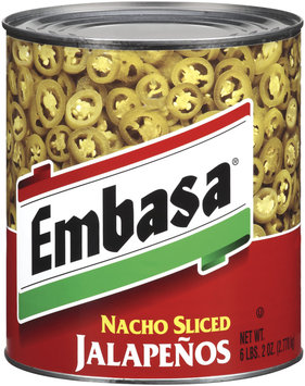 Embasa® Nacho Sliced Jalapenos 98 oz. Can