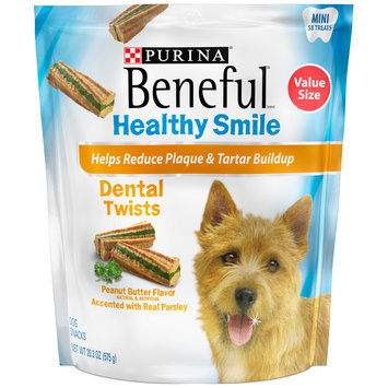 Purina Beneful Healthy Smile Twists Mini Dental Dog Snacks 58 ct Pouch
