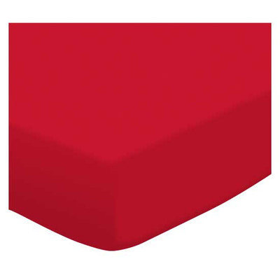 Stwd Solid Jersey Knit Travel Crib Light Fitted Sheet Color: Red