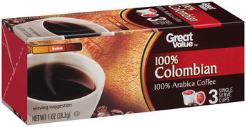 Great Value™ 100% Colombian 100% Arabica Coffee 1 oz. Box