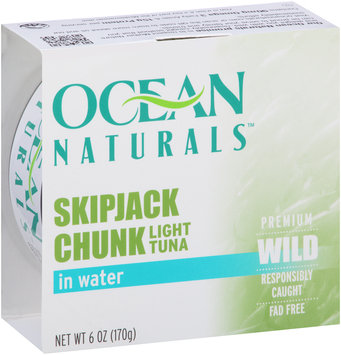 Ocean Naturals™ Skipjack Chunk Light Tuna in Water 6 oz. Can