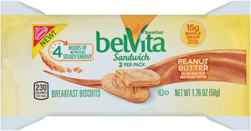 Nabisco belVita Sandwich Breakfast Biscuits Peanut Butter