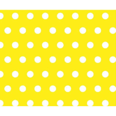 Stwd Polka Dots Portable Mini Fitted Crib Sheet Color: Yellow