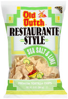 Old Dutch® Restaurante Style Sea Salt & Lime Tortilla Chips 13 oz. Bag
