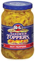 B&G Hot Peppers Sandwich Toppers 16 Fl Oz Jar