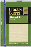 Kraft Cracker Barrel® Havarti Cheese Slices 10 Ct 7 Oz Zip Pak