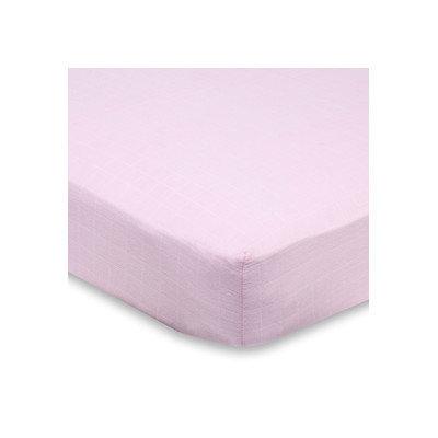 aden + anais For The Birds Crib Sheet - Solid Pink