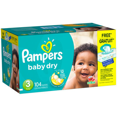 Baby Dry Pampers Baby Dry Size 3 Super Pack with Coupons 104 Count