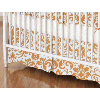 Stwd Damask Crib Skirt Color: Gold