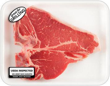 Beef T-Bone Steak Tray