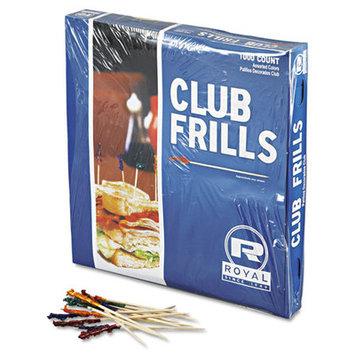 Royal Paper RPPR812W - Royal Club Cellophane-Frill Wood Picks