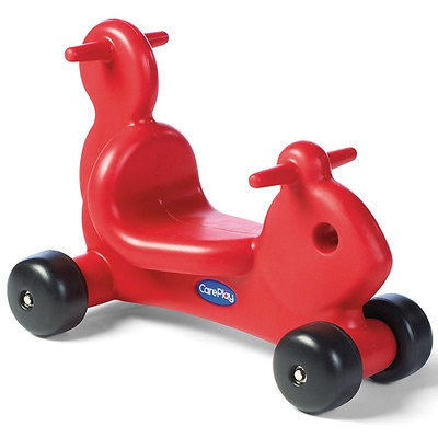 Foundations Worldwide, Inc. CarePlay Squirrel Ride - On / Walker with Handles in Red
