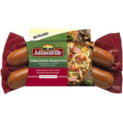 Johnsonville Three Cheese Italian Style Smoked Sausage 13.5oz sleeve (101630)