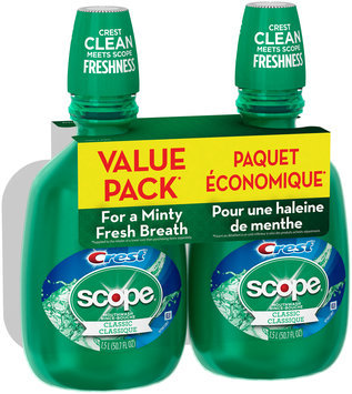 Scope Classic Original Mint Mouthwash, 1.5 L TWIN