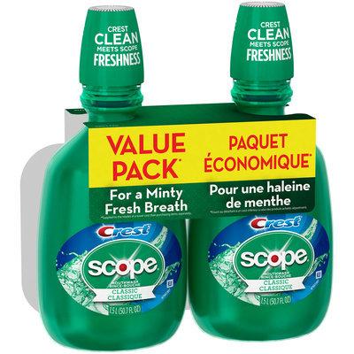 Scope Classic Original Mint Mouthwash, 1.5 L TWIN