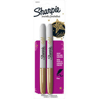 Sharpie Gold Fine Point Permanent Marker 2 Count