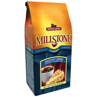 Millstone Hazelnut Cream Whole Bean Artificially Flavored Coffee 12 Oz Bag