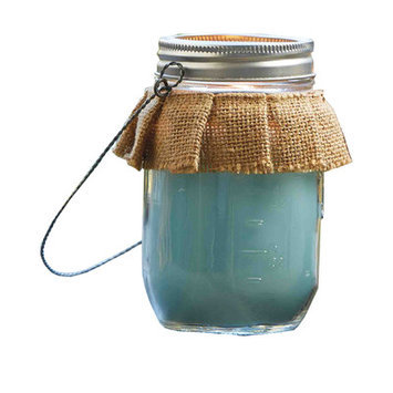 Mud Pie South Citronella Jar Candle (Set of 2) Color: Blue