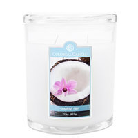 Fragranced in-line Container CC022.2074 22oz. Oval Coconut Rain Candles