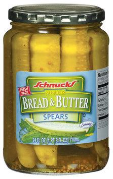 Schnucks Bread & Butter Spears No Sugar Pickles 24 Fl Oz Jar