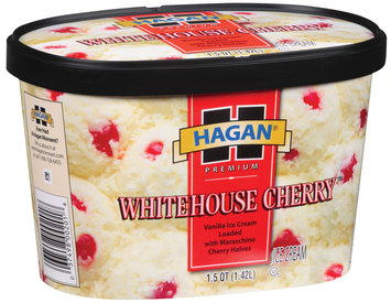 Hagan Whitehouse Cherry  Ice Cream 1.5 Qt Carton