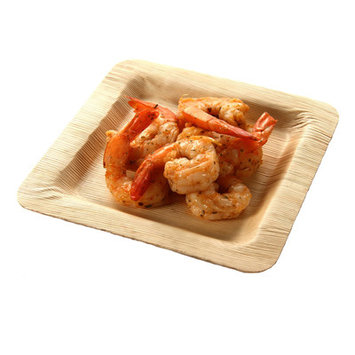 Restaurantware Square Bamboo Leaf Plate (100 Count) Size: Medium