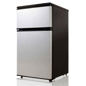 Equator 3.1 cu. Ft. Defrost Top Mount Compact Refrigerator, Stainless Stainless steel
