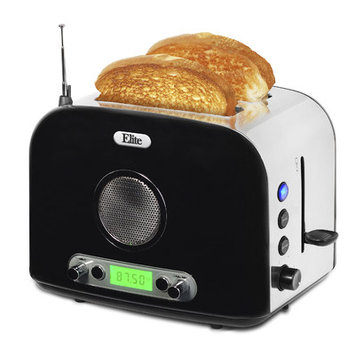 Elite Platinum - 2-slice Radio Toaster - Black