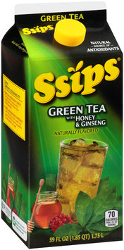 Ssips® Green Tea with Honey & Ginseng Flavored Drink 59 fl. oz. Carton