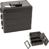 Sunrise E3303CRAB All Black Crocodile Pro Makeup Case