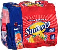 SunnyD® Orange Strawberry Citrus Punch 6-6.75 fl. oz. Bottles